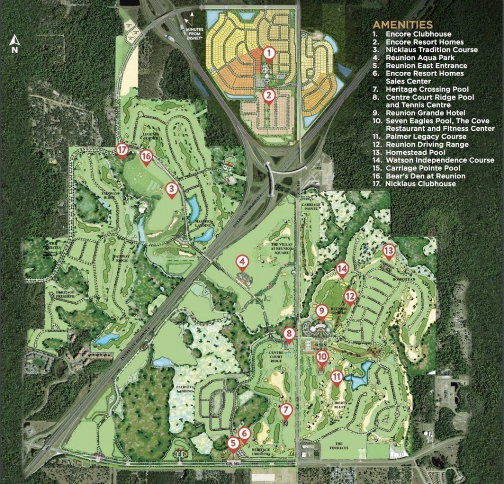 Encore Resort At Reunion - Mitchell Freitas - Map Of Reunion Resort Florida
