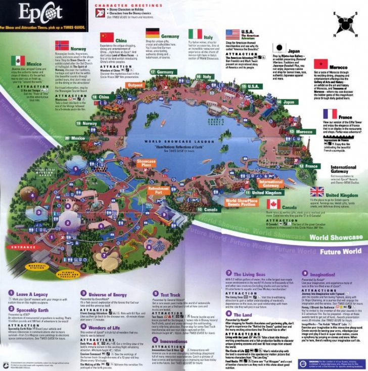 Epcot Florida Map