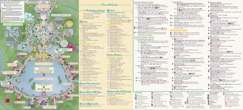 Epcot Flower & Garden Festival Map 2019 At Walt Disney World - Printable Epcot Map