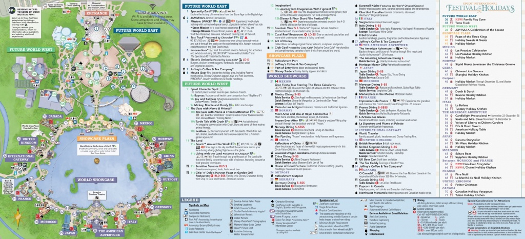 Epcot International Festival Of The Holidays Map 2018 At Walt Disney - Printable Epcot Map