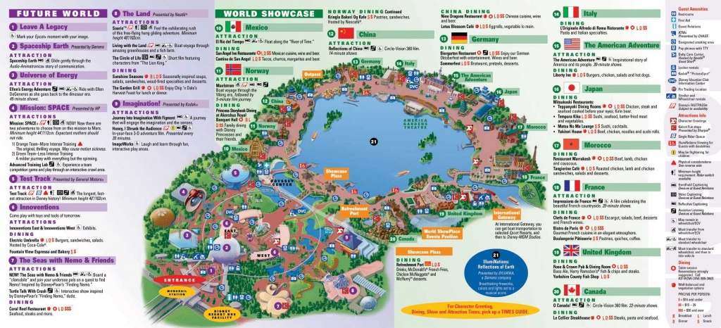Epcot | Landscape | Epcot Map, Disney Map, Disney World Map - Epcot Park Map Printable