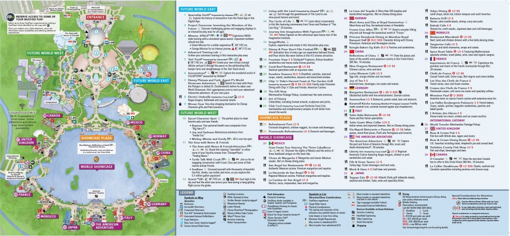 Epcot Map Walt Disney World Within Of Showcase 7 - World Wide Maps - Epcot Park Map Printable