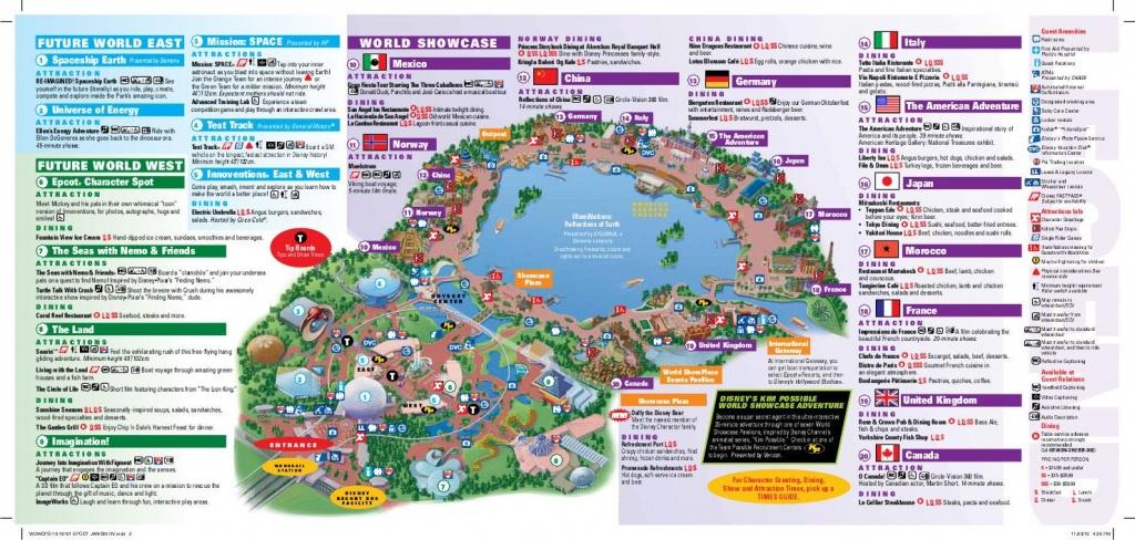 Epcot Map   Wdw -- Epcot   Disney World Map, Epcot Map, Disney Map - Epcot Florida Map