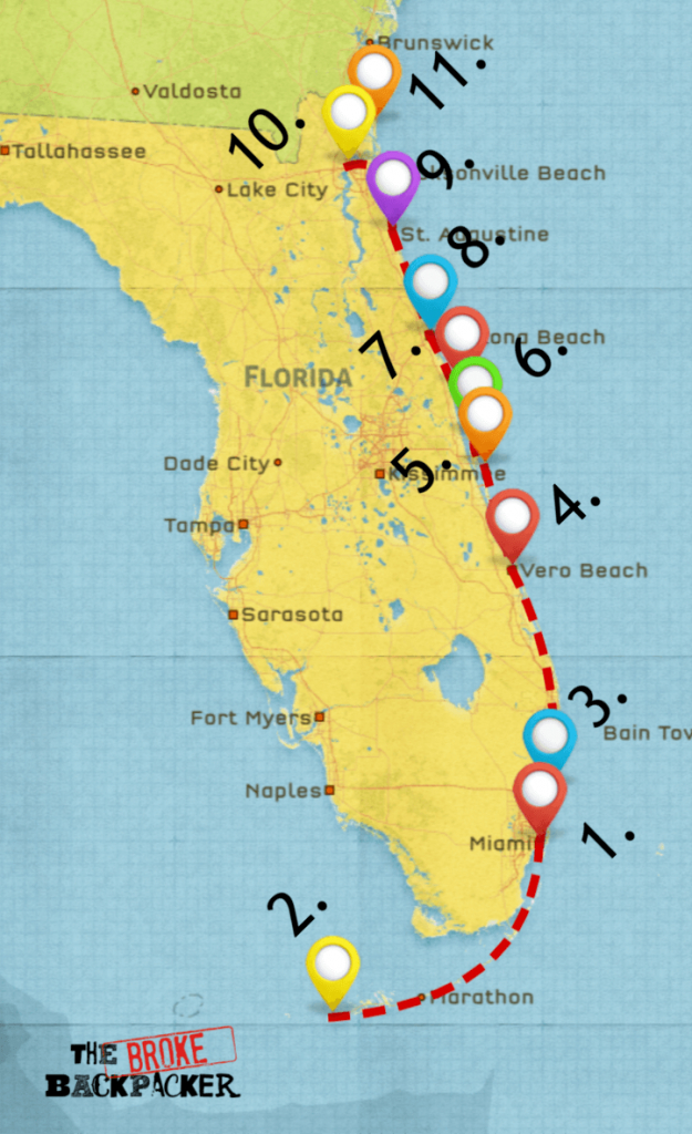 Epic Florida Road Trip Guide For July 2019 - Florida Vacation Destinations Map