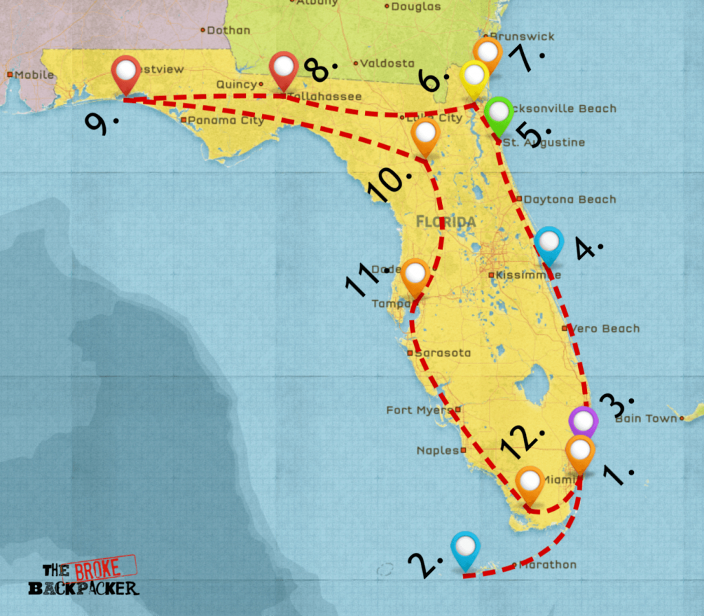 Epic Florida Road Trip Guide For July 2019 - Map Of Florida Vacation Spots