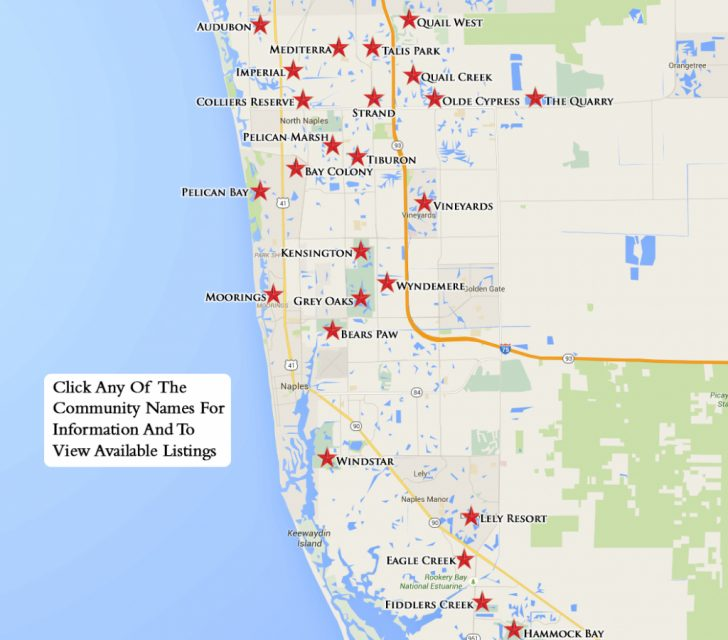 Lely Resort Naples Florida Map