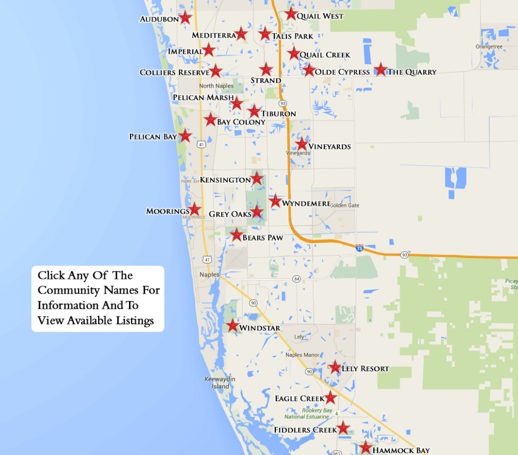 Equity Courses Map - Naples Florida Attractions Map