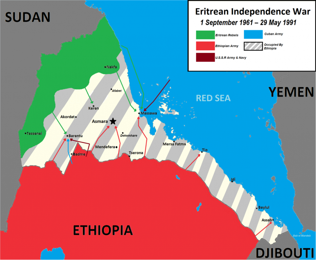 Eritrean War Of Independence - Wikipedia - Printable Civil War Map