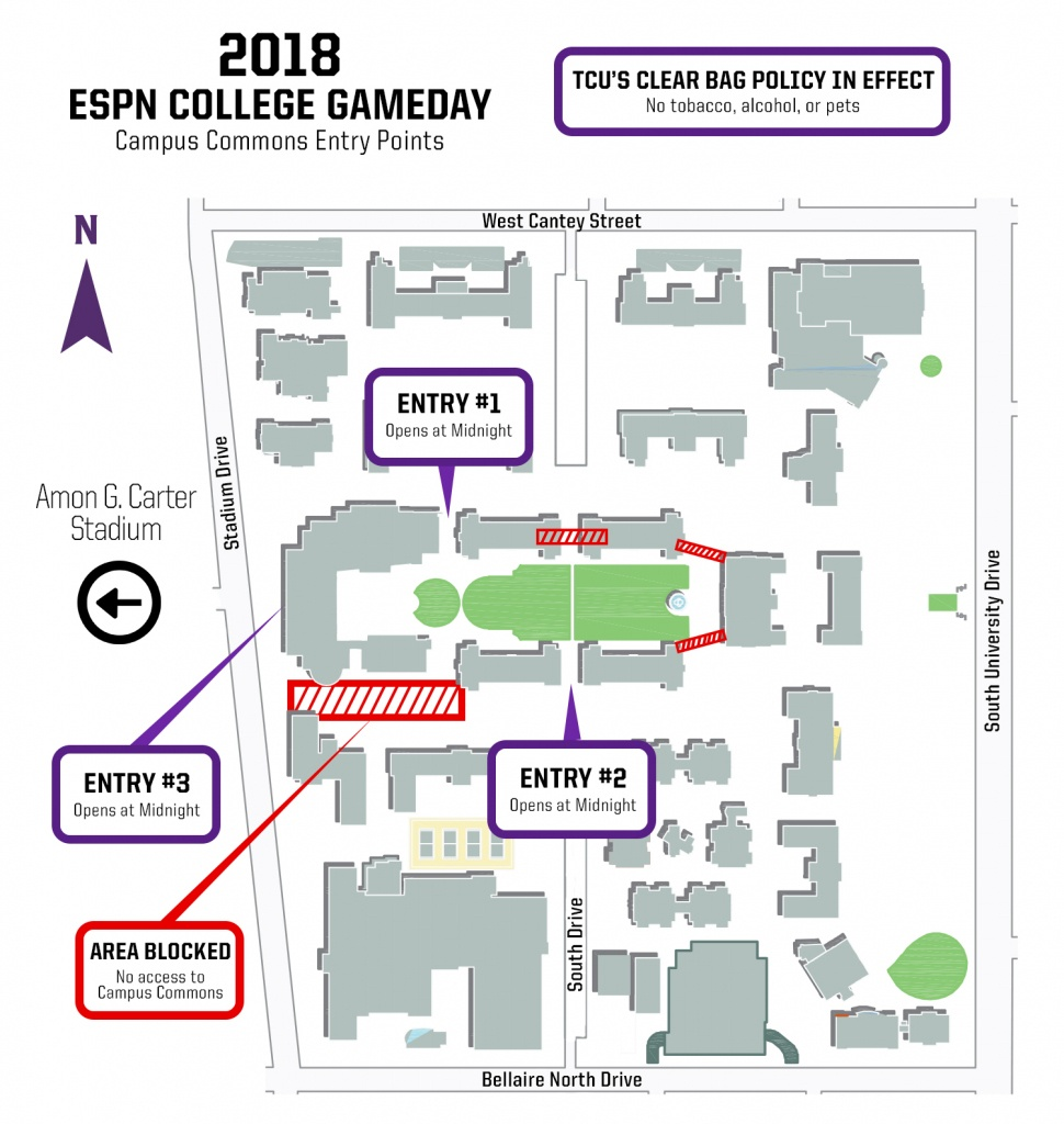 Espn College Gameday - Midnight Texas Map
