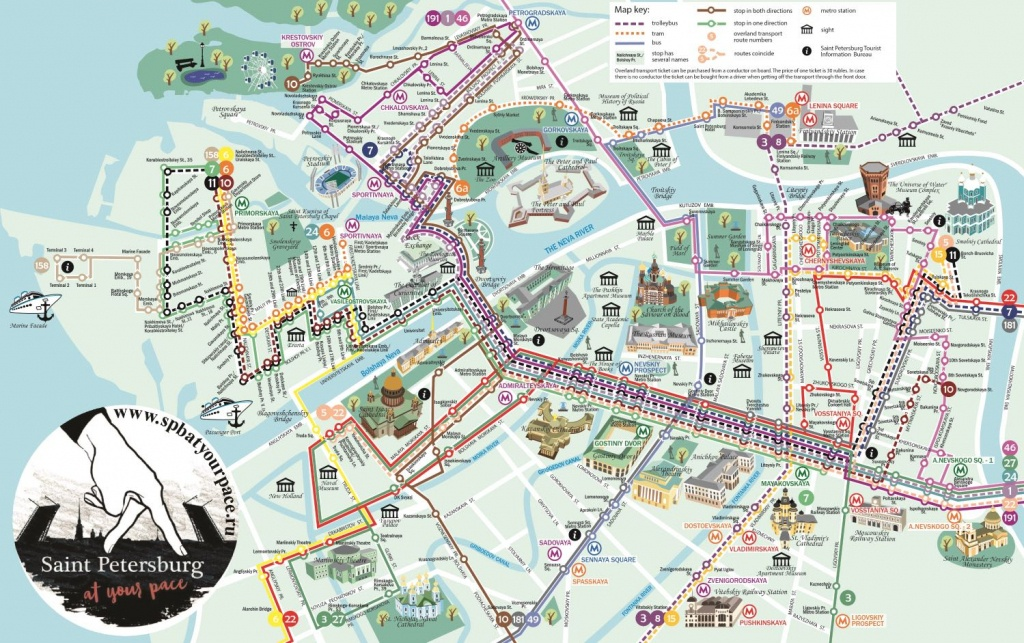 Essential Tourist Maps Of St. Petersburg (Pdf And Jpg) - Printable Map Of St Petersburg Russia