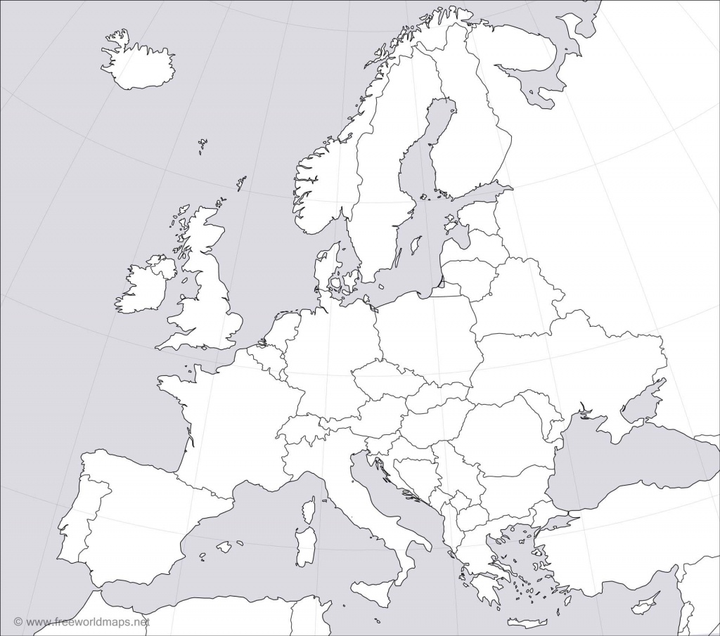 Europe Blank Map - Europe Political Map Outline Printable