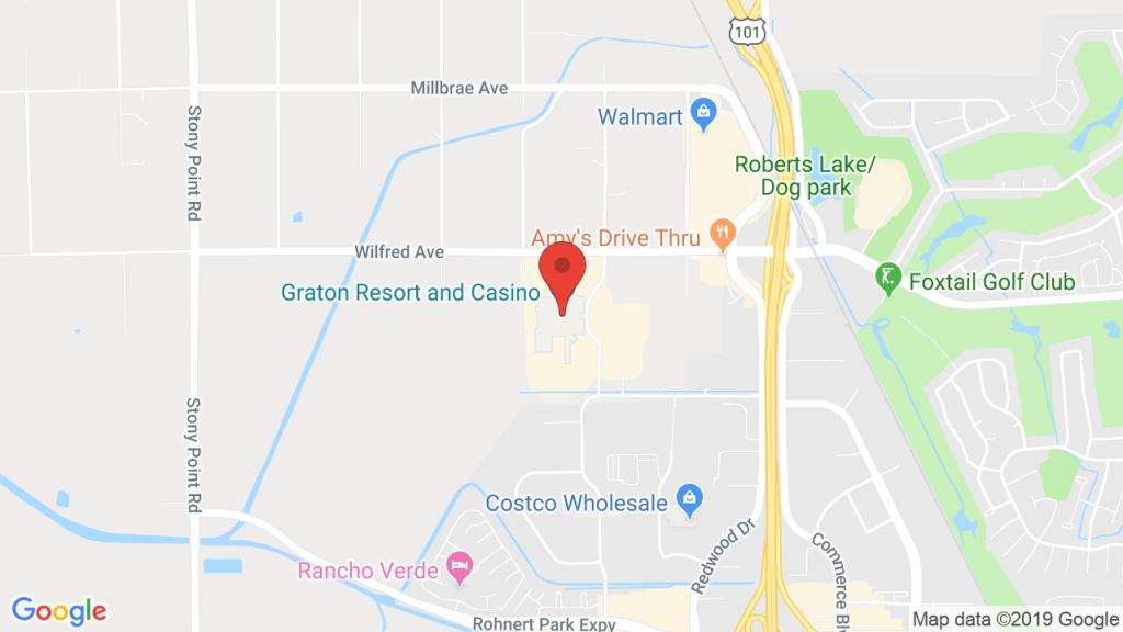 Event Center At Graton Resort & Casino In Rohnert Park, Ca - Graton California Map