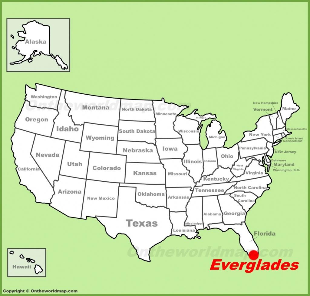 Everglades National Park Maps   Usa   Maps Of Everglades National - Map Of Florida Showing The Everglades