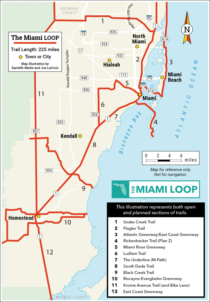 Explore The Loop | Miami Loop | Rails-To-Trails Conservancy - Rails To Trails Florida Map