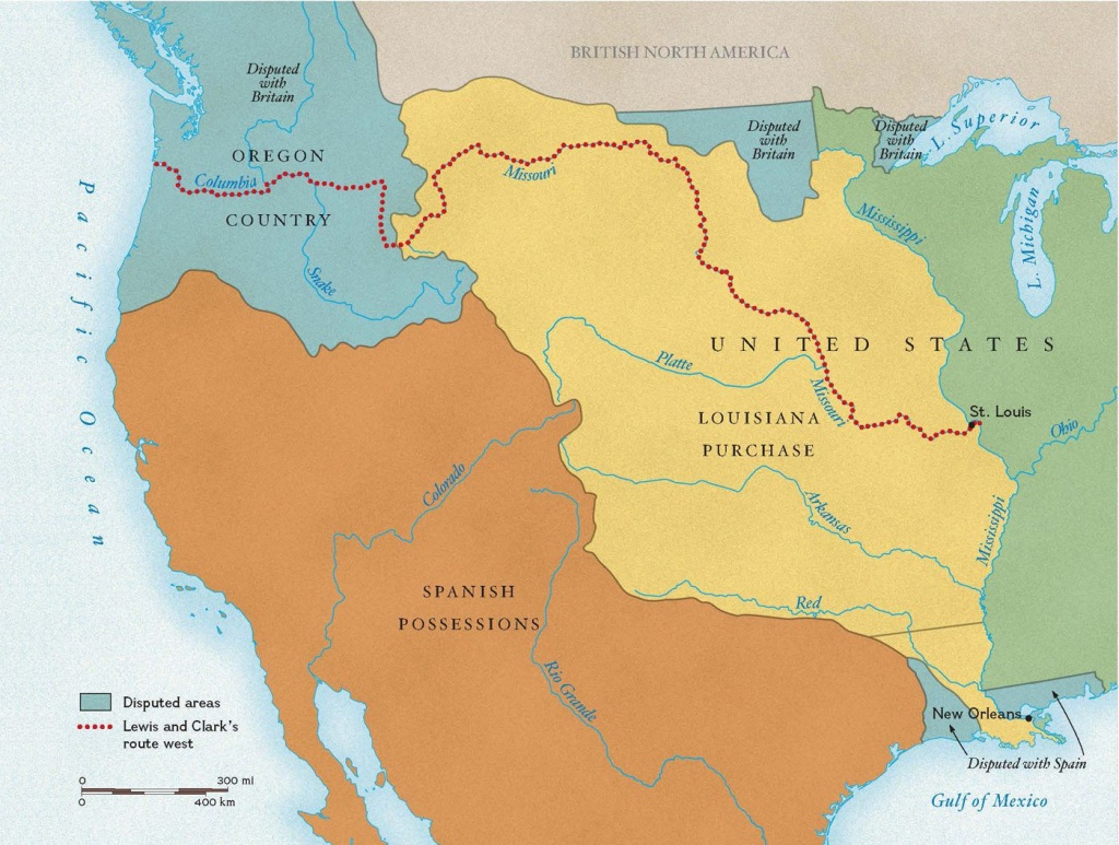 Exploring The Louisiana Purchase | National Geographic Society - Lewis And Clark Expedition Map Printable