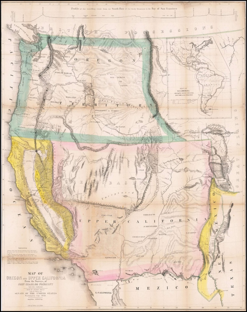 Extremely Rare California Gold Rush Edition Of Fremont's Epochal Map - California Gold Rush Map