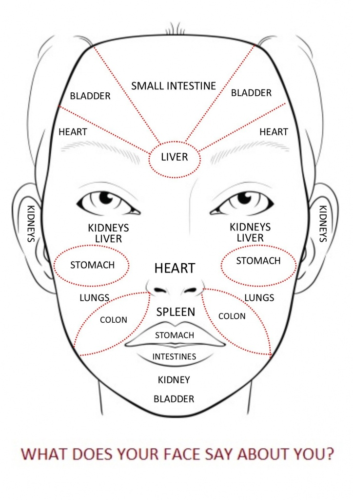 Face Mapping For Acne - The Ultimate Guide - Printable Body Maps