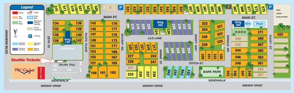 Facilities Map - Anaheim Rv Park, Facilities Map - Rv Parks California Map
