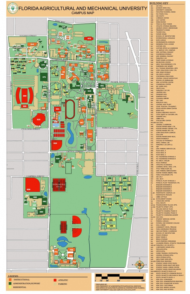 Facilities, Planning, Construction And Safety- Florida Agricultural - Florida State University Map