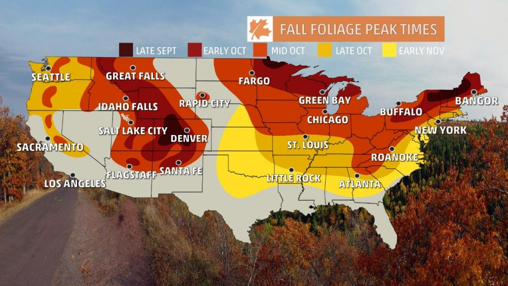 Fall Foliage Finder - Following Fall - California Fall Color Map 2017