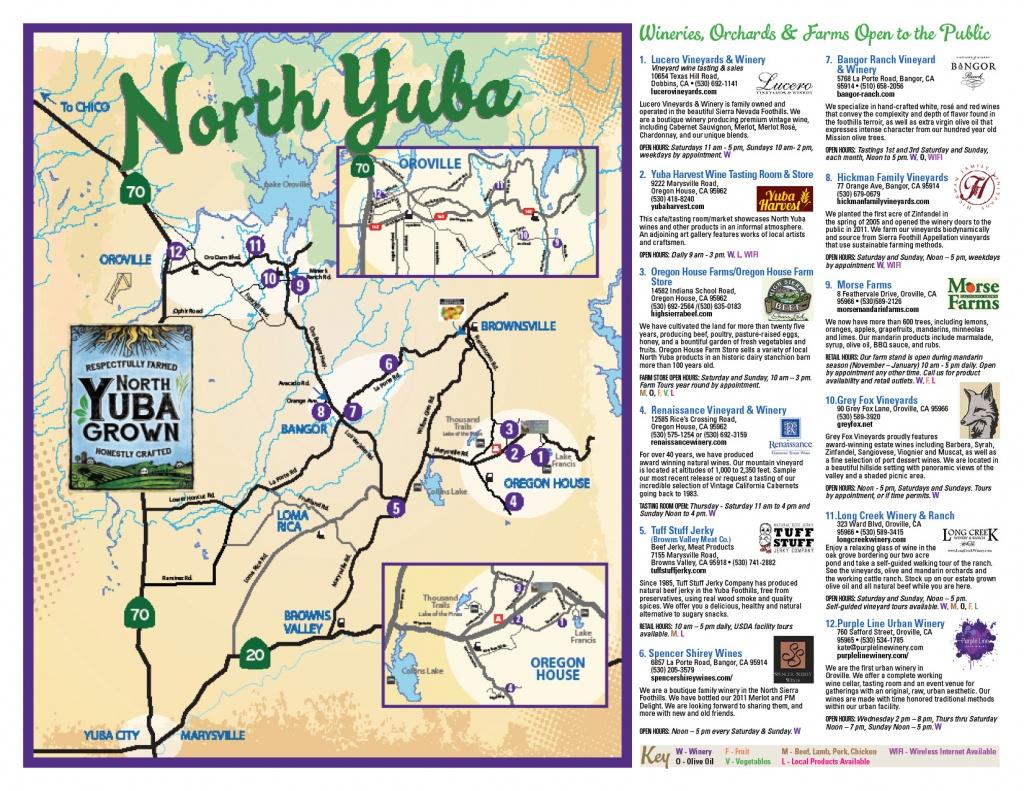 Farm Trail Map | North Yuba Grown - North Texas Wine Trail Map