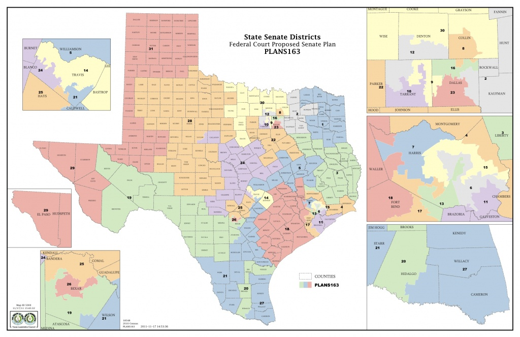 Federal Judges Propose Maps For Texas Legislative Races | The Texas - Texas Senate District Map
