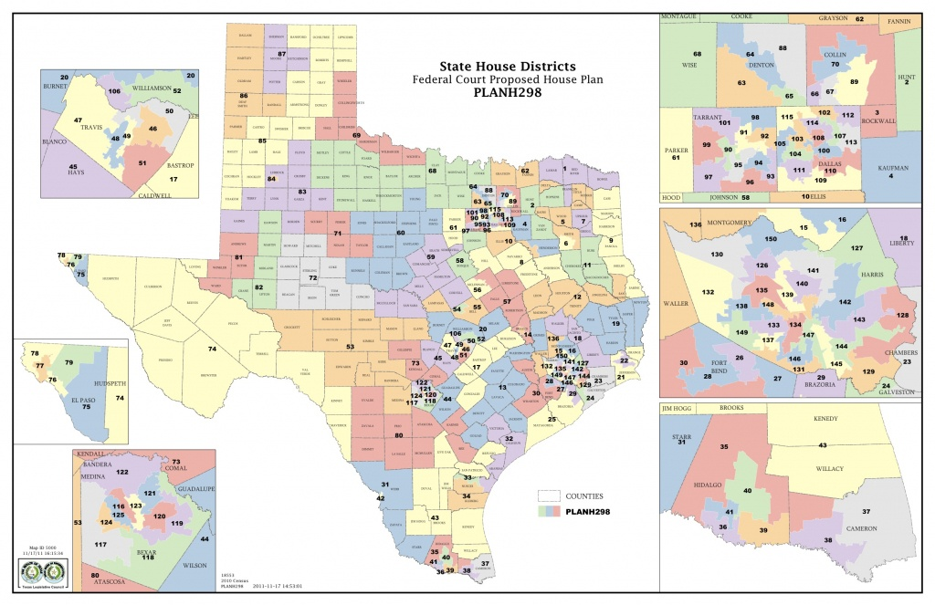 Federal Judges Propose Maps For Texas Legislative Races | The Texas - Texas State Representatives Map