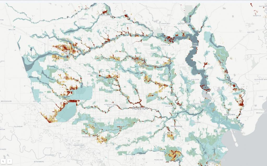 Fema Flood Data Shows Harvey's Broad Reach - Houston Chronicle - Houston Texas Floodplain Map