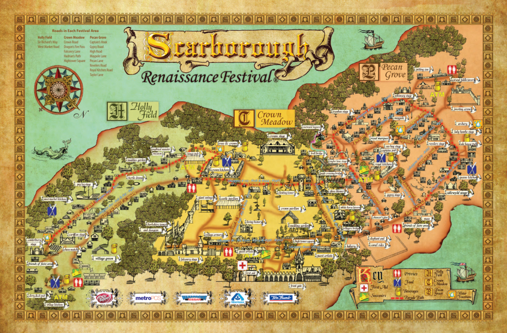 Festival Map - Scarborough Renaissance Festival | Texas - Texas Renaissance Festival Map