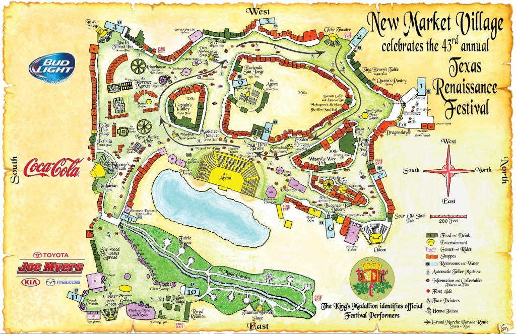 Festival Map – Texas Renaissance Festival | Texas | Renissance - Texas Renaissance Festival Map