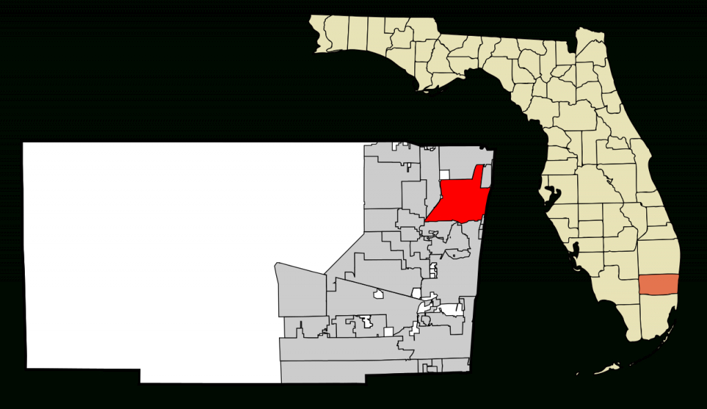 Fichier:broward County Florida Incorporated And Unincorporated Areas - Pompano Florida Map
