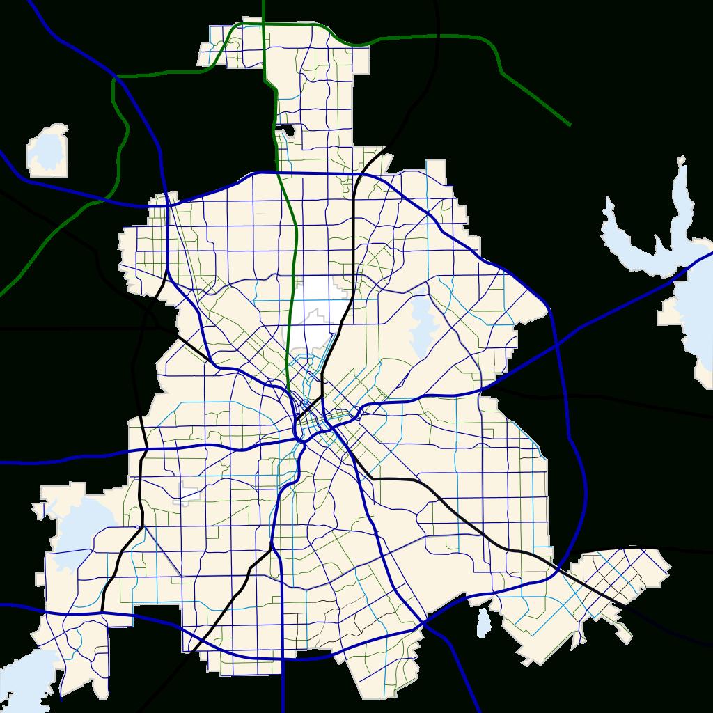 Fichier:dallas, Texas Road Map.svg — Wikipédia - Dallas Texas Highway Map
