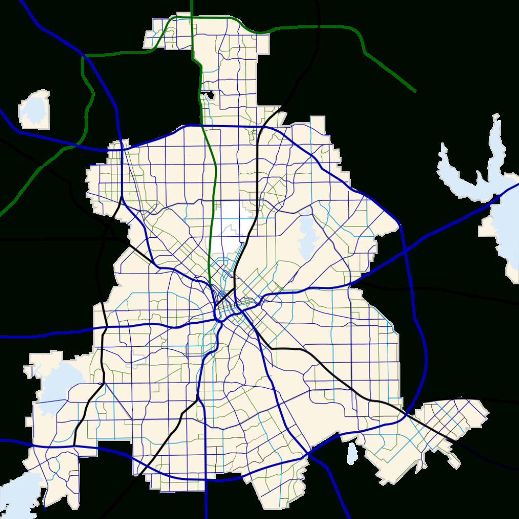Fichier:dallas, Texas Road Map.svg — Wikipédia - Texas Road Map Free
