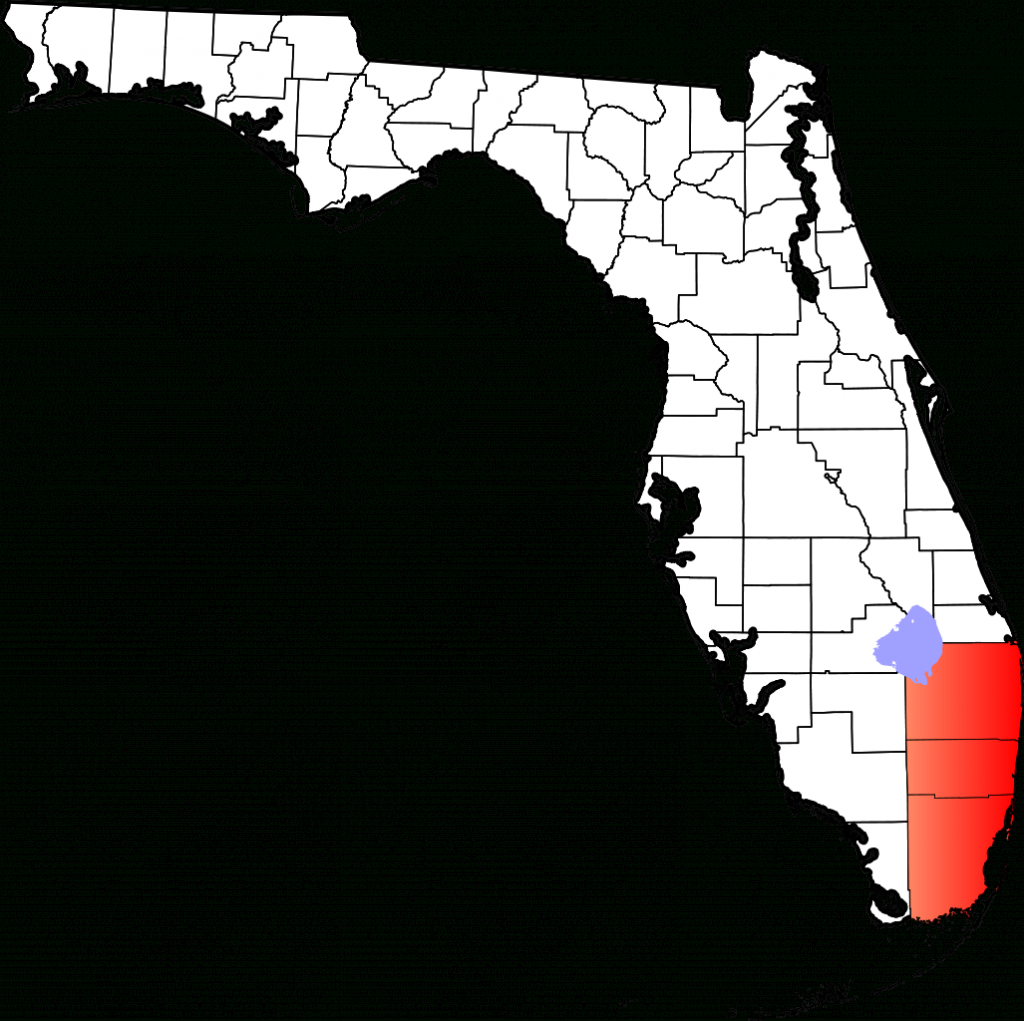 Fichier:map Of Florida Highlighting South Florida.svg — Wikipédia - South Florida County Map
