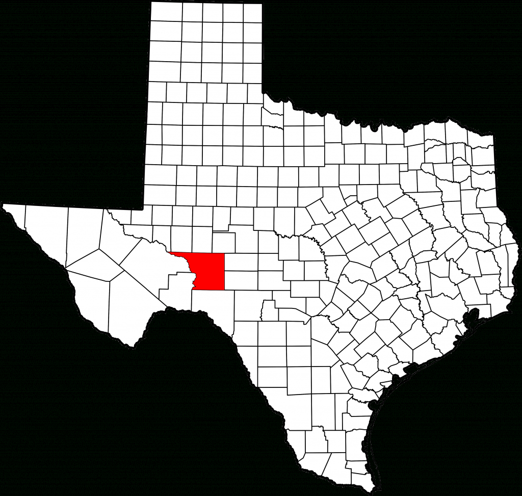 Fichier:map Of Texas Highlighting Crockett County.svg — Wikipédia - Crockett Texas Map