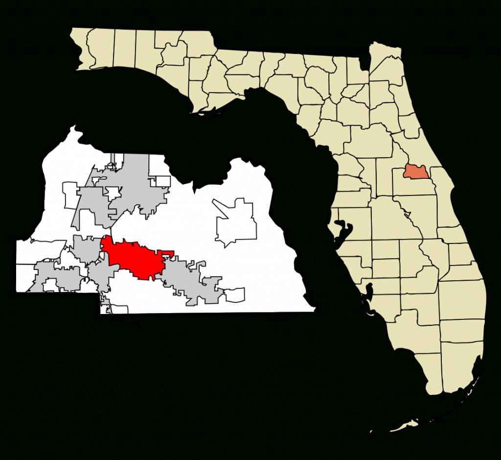 Fichier:seminole County Florida Incorporated And Unincorporated - Map Of Seminole County Florida
