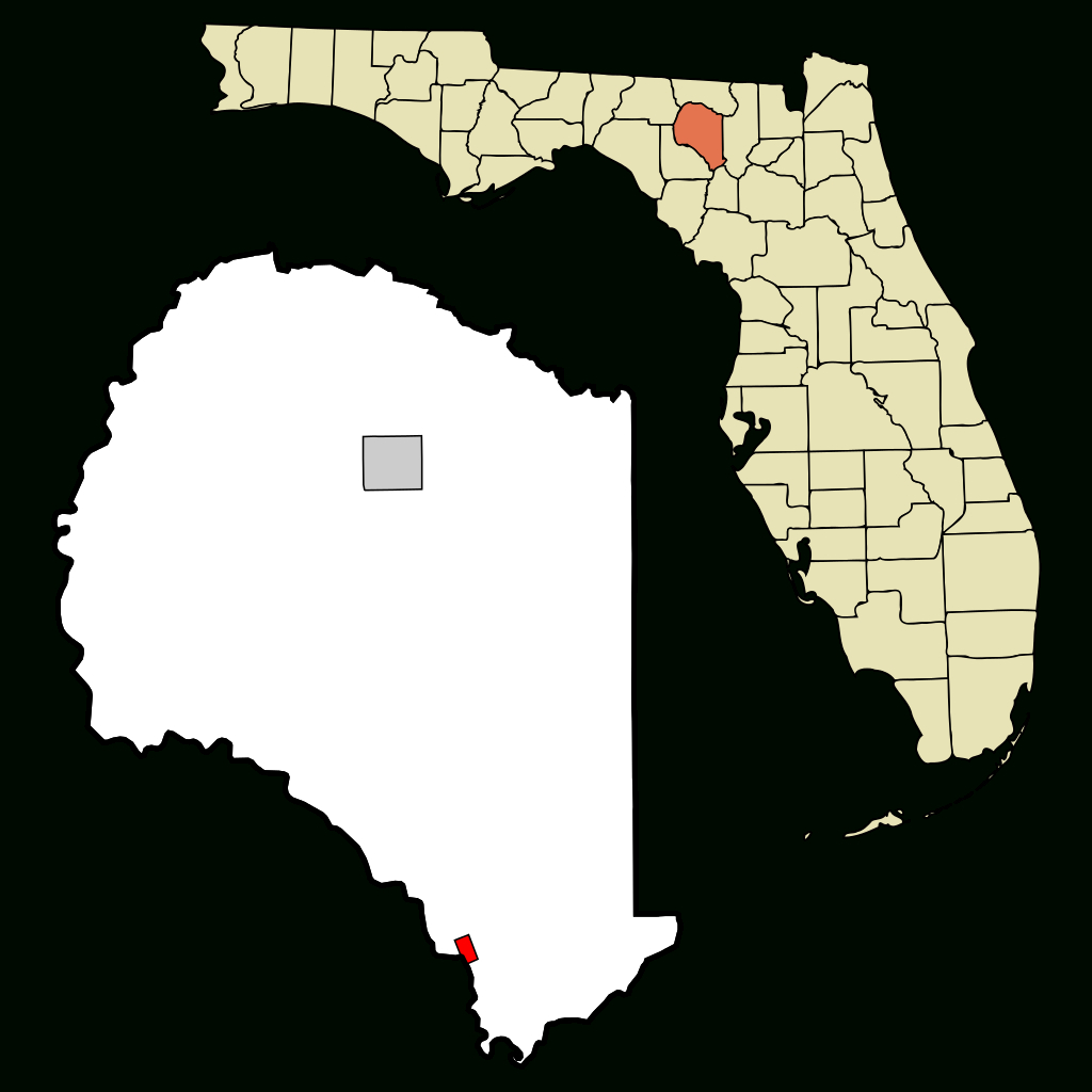 Fichier:suwannee County Florida Incorporated And Unincorporated - Branford Florida Map