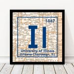 Fighting Illini  University Of Illinois Urbana Champaign Periodic   Printable Map Of Champaign Il