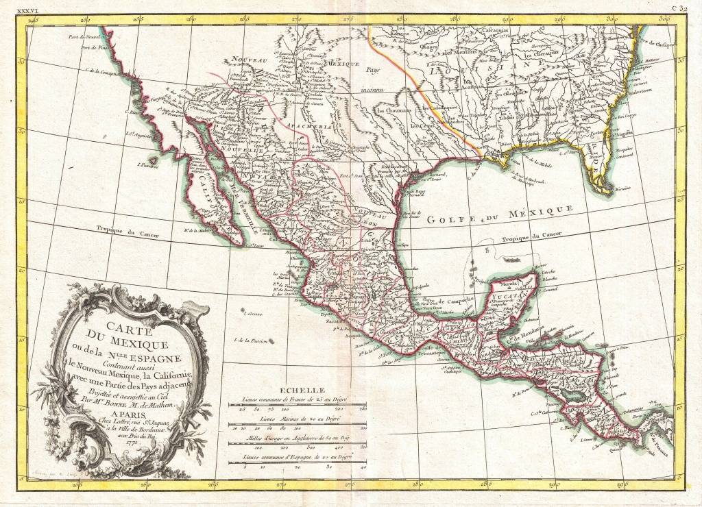File:1771 Bonne Map Of Mexico (Texas), Louisiana And Florida - Florida Louisiana Map