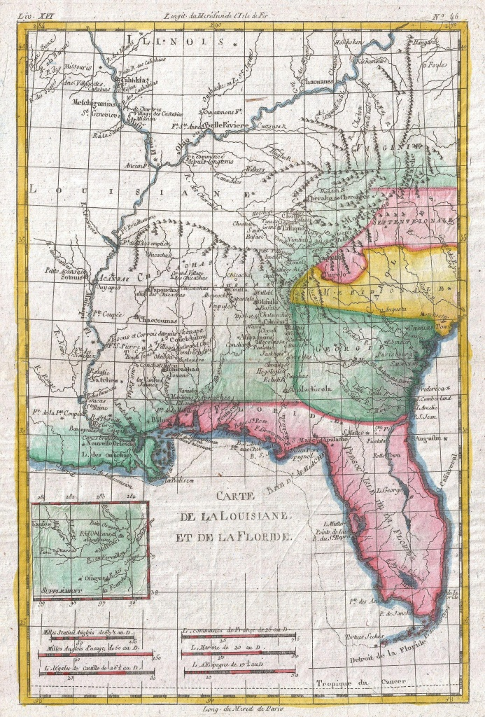 File:1780 Raynal And Bonne Map Of Louisiana, Florida And Carolina - Florida Louisiana Map