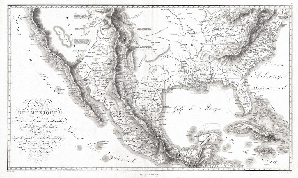 File:1811 Humboldt Map Of Mexico, Texas, Louisiana, And Florida - Texas Louisiana Map