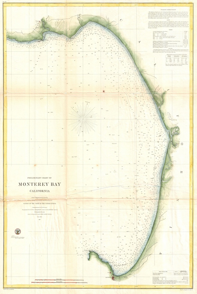 File:1857 U.s. Coast Survey Map Of Monterey Bay, California - Monterey Bay California Map