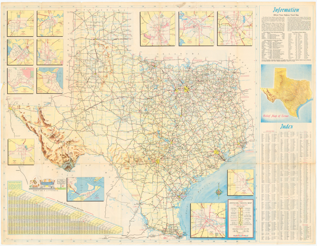 File:1956 Official Texas Highway Map Small - Wikimedia Commons - Official Texas Highway Map