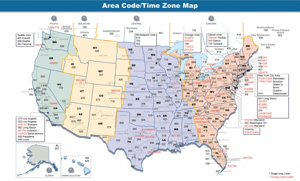 File:area Codes & Time Zones Us - Wikimedia Commons - Free Printable Us Timezone Map With State Names