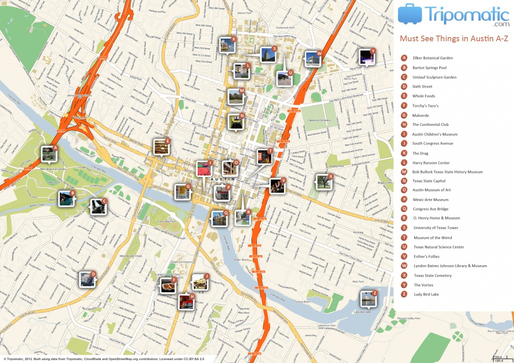File:austin Printable Tourist Attractions Map - Wikimedia Commons - Austin Texas Map Downtown