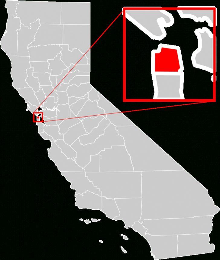 Map Of California Near San Francisco