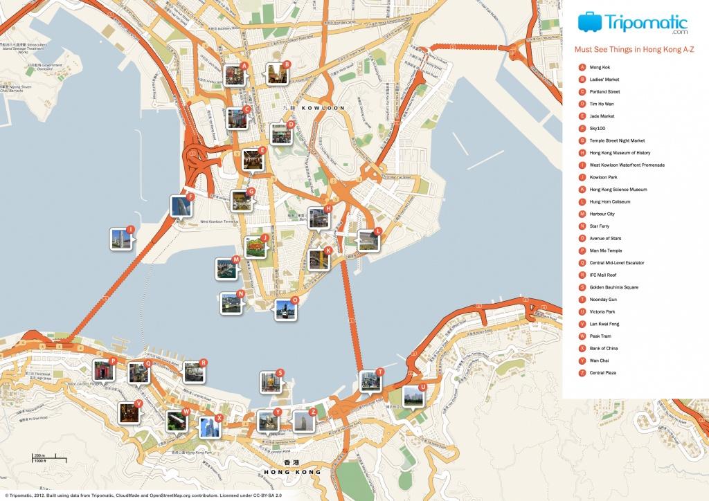 File:hong Kong Printable Tourist Attractions Map - Wikimedia Commons - Printable Map Of Hong Kong