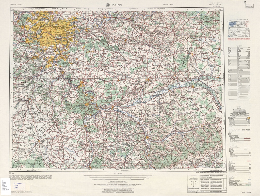 File:u.s. Army Map Service, Paris 1954 - The University Of Texas At - Paris Texas Map