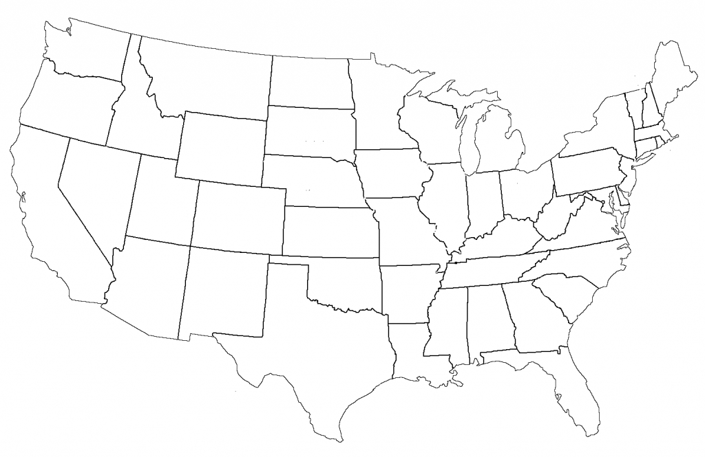 File:united States Administrative Divisions Blank - Wikimedia - Map Of United States Without State Names Printable