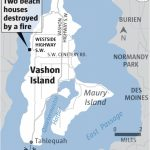 Fire Destroys Two Homes On West Side Of Vashon Island | The Seattle   Vashon Island Map Printable
